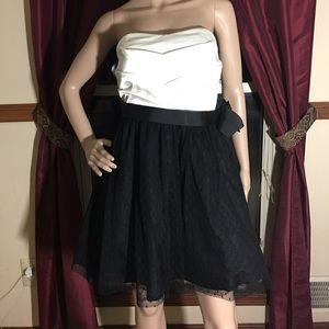 Dresses & Skirts - Semi- Formal Strapless Black & White Dress